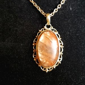 Stunning Glass Pendany Necklace